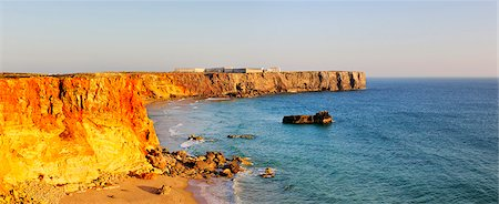 Sagres cape, where the great world discoveries of Portugal were planned by Infante Dom Henrique. Algarve Stock Photo - Rights-Managed, Code: 862-05998825