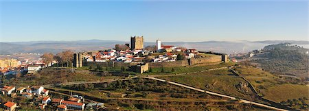 The castle and historical center of Braganca, one of the old cities of Portugal, Tras-os-Montes Stock Photo - Rights-Managed, Code: 862-05998946