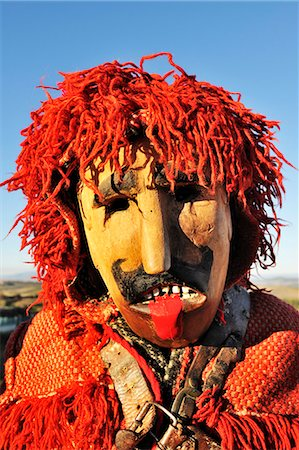portuguese (places and things) - Medieval traditional masks used during the Winter Festivities. Grijo de Parada, Tras-os-Montes, Portugal Stock Photo - Rights-Managed, Code: 862-05998941