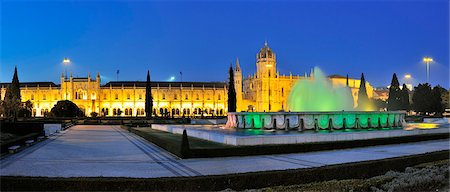 Jeronimos monastery, a Unesco World Heritage Site, at twilight. Lisbon, Portugal Stock Photo - Rights-Managed, Code: 862-05998971