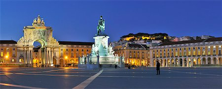 Terreiro do Paco at twilight. One of the centers of the historical city. Lisbon, Portugal Stock Photo - Rights-Managed, Code: 862-05998981