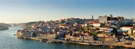 Oporto. Ribeira, a Unesco World Heritage Site at dusk. Portugal Stock Photo - Rights-Managed, Code: 862-05998994
