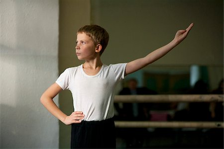 Sakhalin, Yuzhno-Sakhalinsk, Russia; Dance students during ballet class at 'Gimnasia no.3': the art college in the capital of the island Stock Photo - Rights-Managed, Code: 862-05999009
