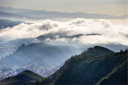 fog (weather) - Anaga Mountains Rural Park. Tenerife, Canary islands Stock Photo - Rights-Managed, Code: 862-05999303