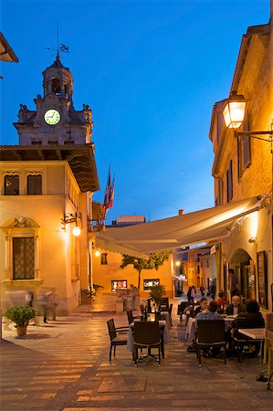 european bar building - Street cafe in the old Town of Alcudia, Majorca, Balearic Islands, Spain Stock Photo - Rights-Managed, Code: 862-05999428
