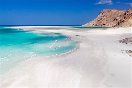 Yemen, Socotra, Sha'ab, Qalansiah. The stunning beach at Qalansiah. Stock Photo - Rights-Managed, Code: 862-05999699