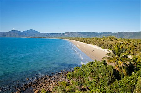 queensland - Australia, Queensland, Port Douglas.  View of Four Mile Beach from Flagstaff Hill. Stock Photo - Rights-Managed, Code: 862-06540756