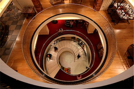 spiral - The big stair in the Fortnum and Mason Department Store in London Piccadilly. Stock Photo - Rights-Managed, Code: 862-06541304