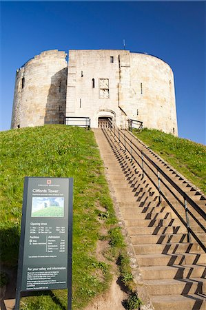 United Kingdom, England, North Yorkshire, York. Cliffords Tower. Stock Photo - Rights-Managed, Code: 862-06541319