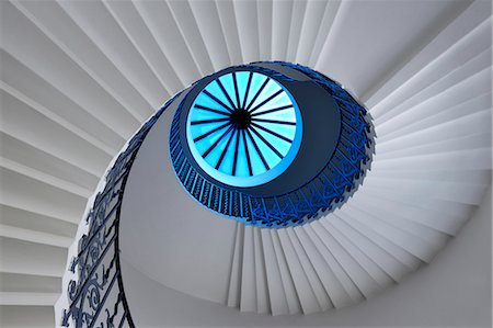spiral - Europe, England, London, Greenwich,  Queens House, Tulip Staircase Stock Photo - Rights-Managed, Code: 862-06541345