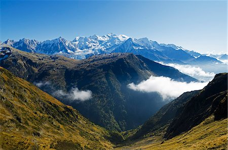 french (places and things) - Europe, France, French Alps, Haute Savoie, Chamonix, Servoz valley and Mt Blanc summit Stock Photo - Rights-Managed, Code: 862-06541566