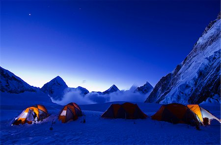 Asia, Nepal, Himalayas, Sagarmatha National Park, Solu Khumbu Everest Region, tents at Camp 1 on Mt Everest Stock Photo - Rights-Managed, Code: 862-06542445