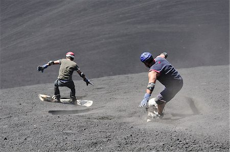 Volcano boarding at Volcan Cerro Negro, Leon, Nicaragua, Central America Stock Photo - Rights-Managed, Code: 862-06542518