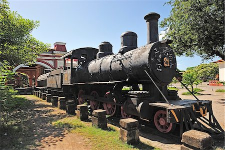 steam engine - Old steam train, Granada, Nicaragua, Central America Stock Photo - Rights-Managed, Code: 862-06542558