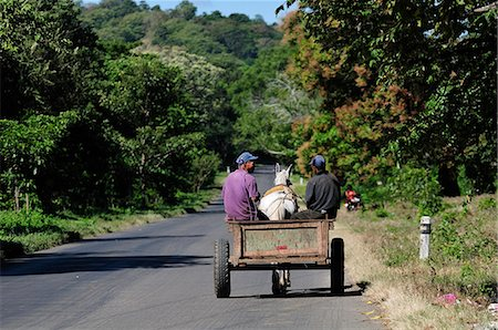Local men in a horse and cart, Nicaragua, Central America Stock Photo - Rights-Managed, Code: 862-06542613