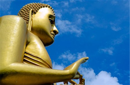 Sri Lanka, North Central Province, Dambulla, Golden Temple and Golden Temple Buddhist Museum, UNESCO World Heritage Site, giant buddha statue Stock Photo - Rights-Managed, Code: 862-06543008