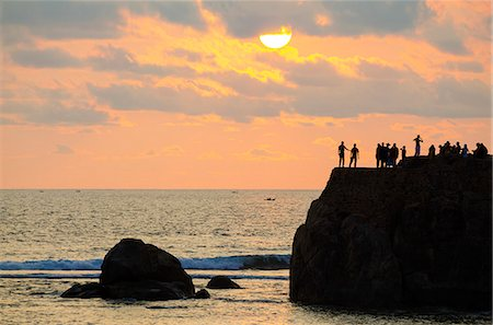 exotic outdoors - Sri Lanka, Southern Province, Galle, UNESCO World Heritage Site, Galle, sunset on the Indian Ocean Stock Photo - Rights-Managed, Code: 862-06543034