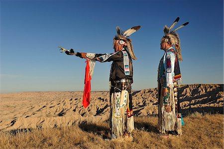 Lakota Indians in the Badlands of South Dakota, USA MR Stock Photo - Rights-Managed, Code: 862-06543409