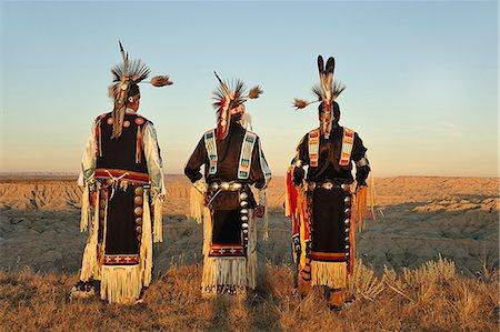 Lakota Indians in the Badlands of South Dakota, USA MR Stock Photo - Rights-Managed, Code: 862-06543410