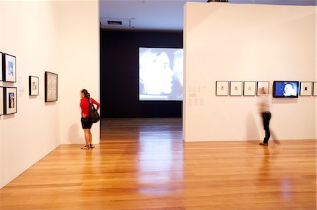 exhibition - South America, Brazil, Sao Paulo; the interior of the Estacao Pinacoteca art gallery in Luz Stock Photo - Rights-Managed, Code: 862-06676098