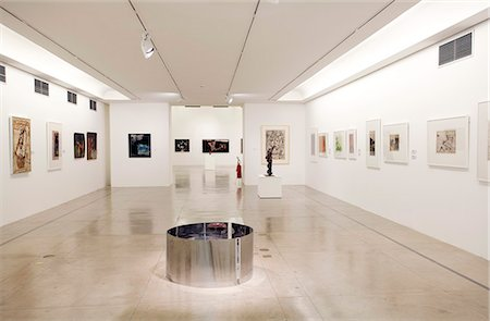 exhibition - South America, Brazil, Sao Paulo, the interior of the Museum of Contemporary Art, MAC, at the University of Sao Paulo in Butanta Stock Photo - Rights-Managed, Code: 862-06676100