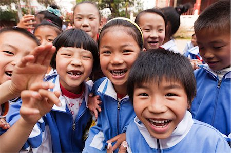 China, Yunnan, Jianshui. School children visiting the Confucian Temple at Jianshui. Stock Photo - Rights-Managed, Code: 862-06676265
