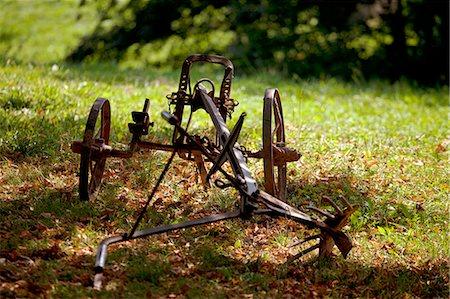 plow - Czech Republic, North Moravia, Zlin, Roznov pod Radhostem, Wallachian Town. A farmer's plough Stock Photo - Rights-Managed, Code: 862-06676585