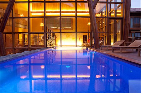 pool - South America, Peru, Urubamba, the swimming pool in the spa at the Tambo del Inka resort and spa Stock Photo - Rights-Managed, Code: 862-06677353