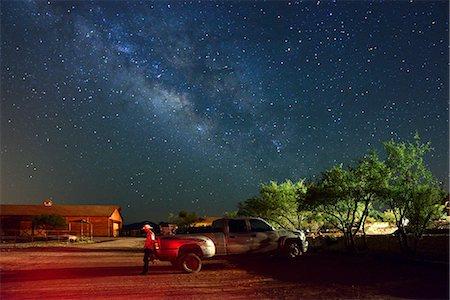 Cowboy and Truck at Apache Spirit Ranch, Tombstone, Arizona, USA Stock Photo - Rights-Managed, Code: 862-06677527