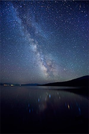 sky stars - Night Sky at Diamond Lake, Chemult, Oregon, USA Stock Photo - Rights-Managed, Code: 862-06677561