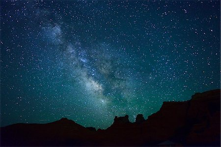 sky stars - Night sky at Goblin Valley State Park, Colorado Plateau,  Utah, USA Stock Photo - Rights-Managed, Code: 862-06677590