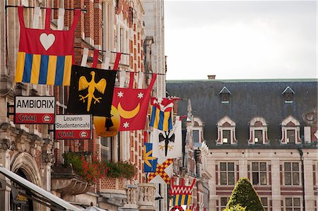 european bar building - Leuven, Belgium. Detail of shop fronts in Leuven's historic town centre. Stock Photo - Rights-Managed, Code: 862-06824950