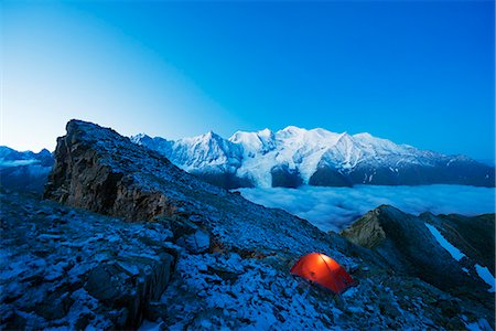 Europe, France, Haute Savoie, Rhone Alps, Chamonix Valley, Mont Blanc (4810m) Stock Photo - Rights-Managed, Code: 862-06825430
