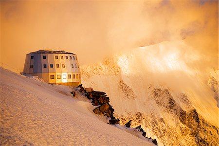 Europe, France, Haute Savoie, Rhone Alps, Chamonix Valley, Gouter Ridge on Mont Blanc Stock Photo - Rights-Managed, Code: 862-06825463