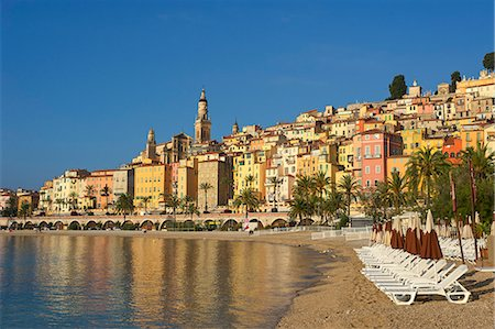 french (places and things) - Beach of Menton, Cote d'Azur, France Stock Photo - Rights-Managed, Code: 862-06825499