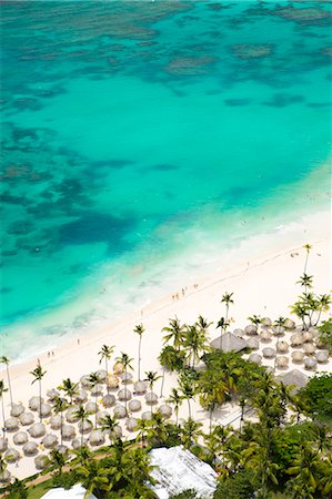 Caribbean, Dominican Republic, La Altagracia province, Punta Cana, Bavaro, aerial view of bavaro beach and a turquoise Caribbean sea Stock Photo - Rights-Managed, Code: 862-07495884