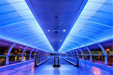 futuristic - Europe, United Kingdom, England, Lancashire, Manchester, Manchester Airport Stock Photo - Rights-Managed, Code: 862-07650634