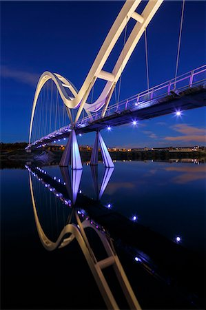 european (places and things) - Europe, United Kingdom, England, Stock On Tees, Infinity Bridge Stock Photo - Rights-Managed, Code: 862-07689935