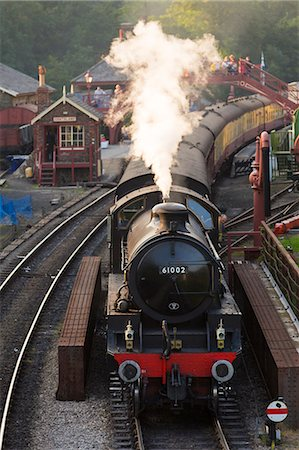 steam engine - United Kingdom, England, North Yorkshire, Goathland. The steam train 61002, 'Impala', on the North Yorkshire Moors Railway. Stock Photo - Rights-Managed, Code: 862-07689986