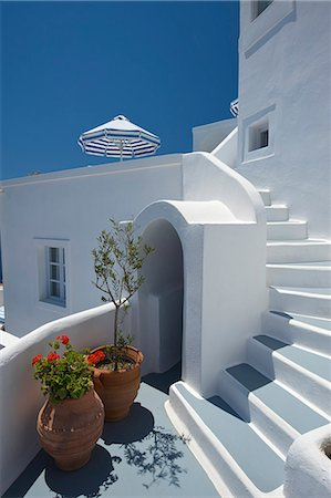 Hotel in Imerovigli, Santorini, Cyclades, Greece Stock Photo - Rights-Managed, Code: 862-07690035