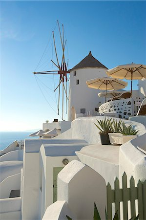 Windmill in Oia, Santorini, Cyclades, Greece Stock Photo - Rights-Managed, Code: 862-07690039