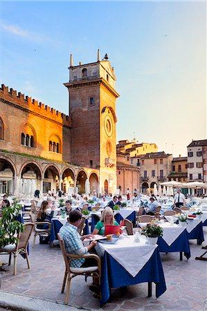 Italy, Lombardy, Mantova district, Mantua, Piazza delle Erbe and Torre dell'Orologio Stock Photo - Rights-Managed, Code: 862-07690157