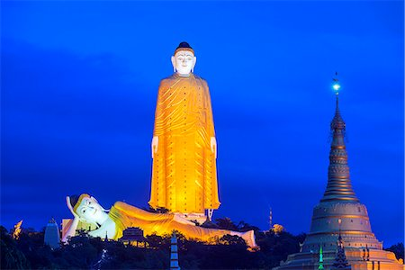 South East Asia, Myanmar, Monywa, Bodhi Tataung, largest buddha statue in the world Stock Photo - Rights-Managed, Code: 862-07690452