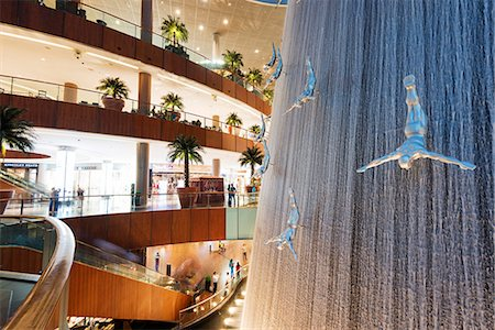 shopping mall - Middle East, United Arab Emirates, Dubai, fountain at Dubai Mall Stock Photo - Rights-Managed, Code: 862-07690940