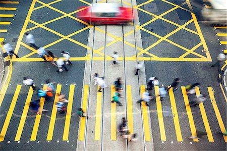 Hong Kong, China. High angle view of street in Hong Kong island Stock Photo - Rights-Managed, Code: 862-07909482