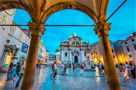 Church of St. Blaise, Old Town, Dubrovnik, Dalmatia, Croatia Stock Photo - Rights-Managed, Code: 862-07909542