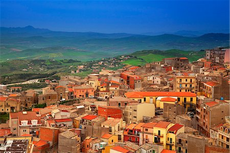 Italy, Sicily, Enna. Overview of Enna Stock Photo - Rights-Managed, Code: 862-07910113