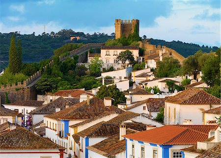 portugal - Portugal, Estramadura, Obidos, overview of 12th century town Stock Photo - Rights-Managed, Code: 862-07910508