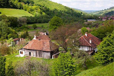 Romania, Transylvania, Zalanpatak. The guesthouses at Zalanpatak owned by The Prince of Wales. Stock Photo - Rights-Managed, Code: 862-07910660