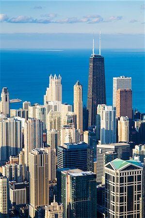 USA, Illinois, Chicago. Elevated view over the city from the Willis Tower. Stock Photo - Rights-Managed, Code: 862-07910938